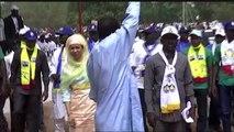 Tchad, Le candidat I. Déby Itno en campagne à Doba