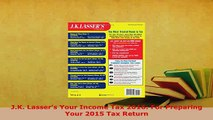 PDF  JK Lassers Your Income Tax 2016 For Preparing Your 2015 Tax Return Ebook