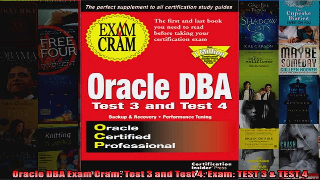 Oracle8i DBA Backup /& Recovery Exam Cram Exam 1z0-015