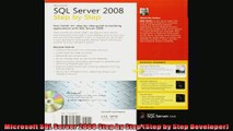 Microsoft SQL Server 2008 Step by Step Step by Step Developer
