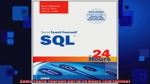 Read Sams Teach Yourself SQL in One Hour a Day (5th Edition