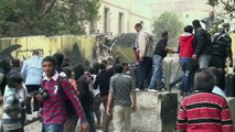 Egyptian youth clash on eve of Egypt revolution anniversary