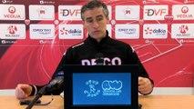 Conférence de presse d'Olivier Dall'Oglio avant DFCO-Nancy
