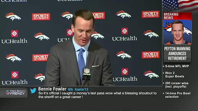 Peyton Manning Retirement Press Conference (Full)  NFL News 16