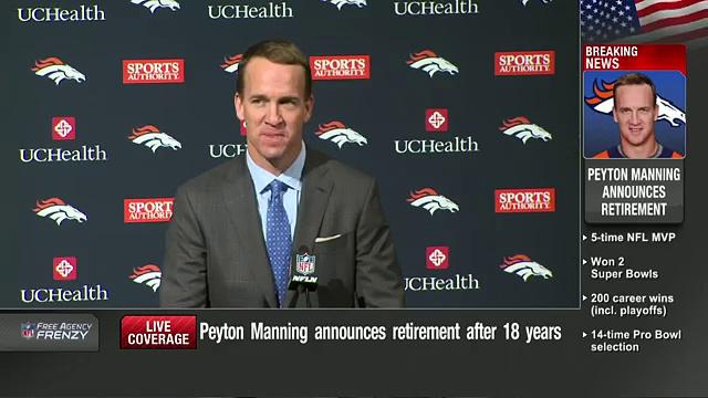 Peyton Manning Retirement Press Conference (Full)  NFL News 22