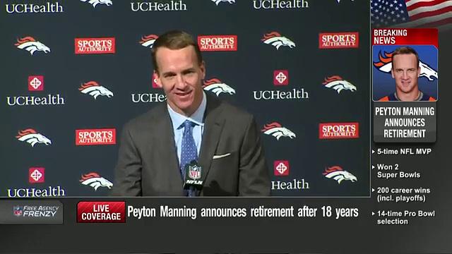 Peyton Manning Retirement Press Conference (Full)  NFL News 23