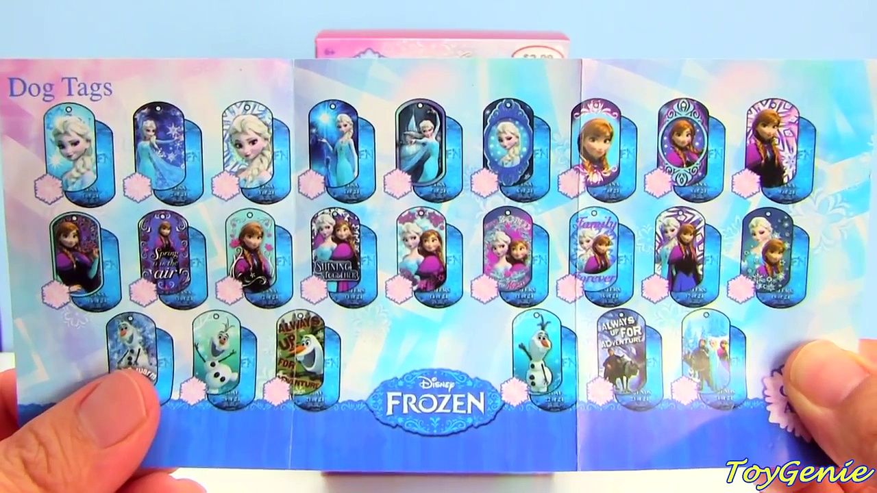 Disney Frozen Dog Tags Series 2 with Elsa and Anna Foil Tags