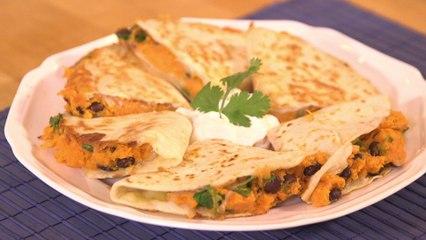 Hearty Sweet Potato & Chipotle Quesadillas