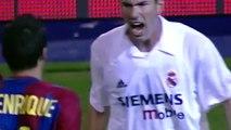 Quand Zidane et Luis Enrique se battaient en plein Clasico