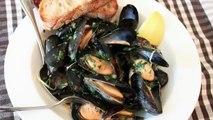 Drunken Mussels Recipe Mussels Steamed in a Garlic, Lemon & Wine Broth