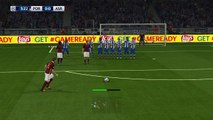 PES 2016 ps4 pjanic score wonderful free kick goal uefa champions league match level super star , 2016 بيس