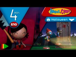 Angus & Cheryl | Halloween Compilation | Full episodes for kids | 4 minutes