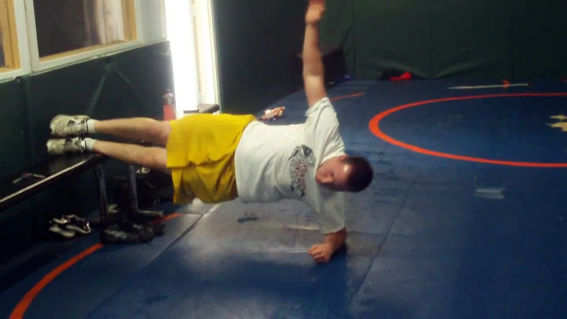 College Lacrosse Core Training Feet Elevated Side Plank on Long Island
