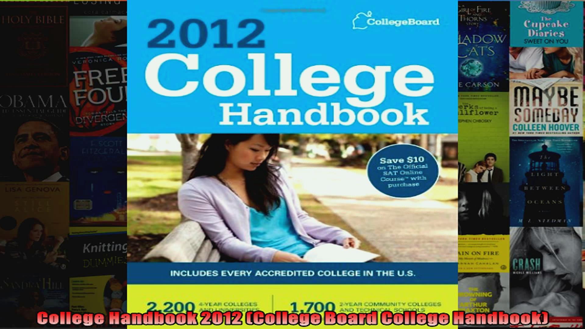 College Handbook 2012 College Board College Handbook