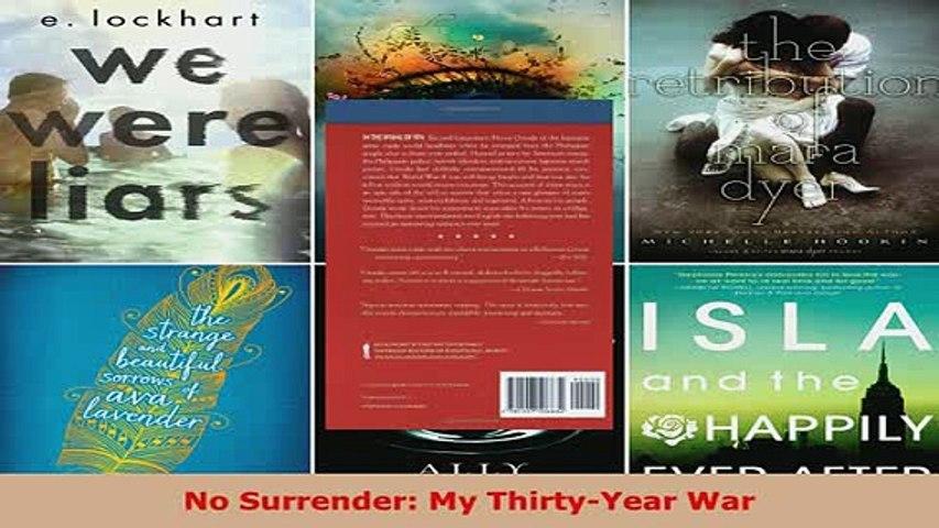 Download  No Surrender My ThirtyYear War Free Books