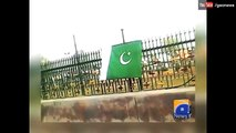 Pakistani flags hoisted in occupied Kashmir - Geo News 23 March 2016