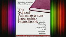 Read  The School Administrator Internship Handbook Leading Mentoring and Participating in the  Full EBook