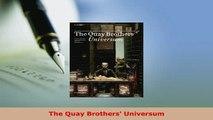 PDF  The Quay Brothers Universum PDF Full Ebook
