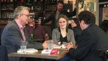 rencontre entre Pierre Laurent et Edwy Plenel au café les frangins[1]