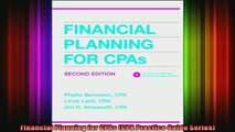 DOWNLOAD FULL EBOOK  Financial Planning for CPAs CPA Practice Guide Series Full Free