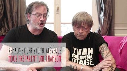 Coulisses : Les Tontons Siffleurs / RENAUD et Christophe Alévèque travaillent une chanson pour la Fête de la Dette