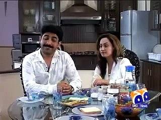 Pakistani Stage Dancer Nargis with Husband Zubair Sha Interview Aik Den Geo Ka Sath
