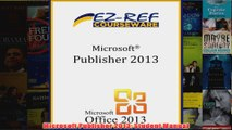 Free   Microsoft Publisher 2013 Student Manual Read Download