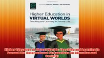 Free   Higher Education in Virtual Worlds Teaching and Learning in Second Life International Read Download