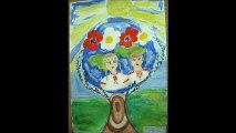Exposition des peintures des enfants de zemlyaki et Okuma