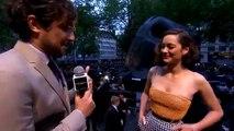 Marion Cotillard interview on The Dark Knight Rises premiere