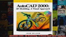 AutoCAD 2000  3D Modeling A Visual Approach