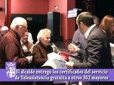 Nueva entrega de los certificados de Teleasistencia a los mayores
