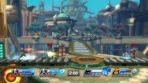 Playstation All Stars Battle Royale: Kratos Match #8 - Double Kratos Vs. Colonel Radec & Parappa