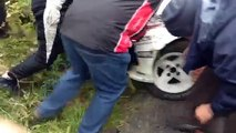 Donegal international rally 2015 :The milk mans last stop of the day