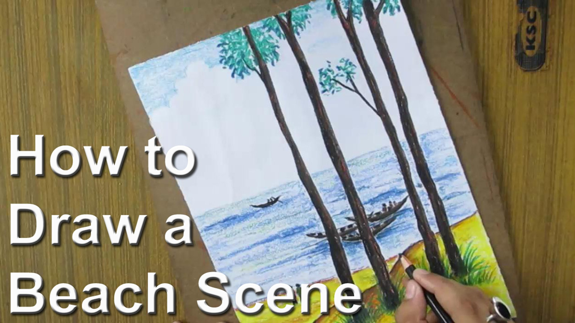 How to Draw A Beach Landscape [LONG VERSION]