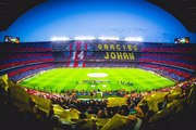 Mosaic and tribute to Johan Cruyff before kick off at the Clasico