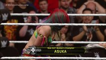 Asuka celebrates winning the NXT Womens Title from Bayley: NXT TakeOver: Dallas on WWE Network