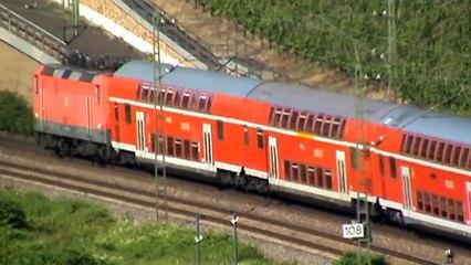 Die Rheinstrecken beim Bopparder Hamm, Crossrail 185, DB185, ICE BR401, 4x 143, 428