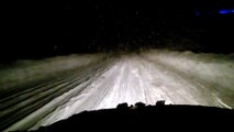 2016 03 04 Route enneigée de nuit entre Chapelle des Bois et Bellefontaine en Renault 18 4x4 (2)