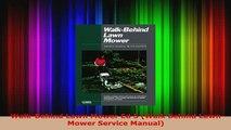 PDF  WalkBehind Lawn Mower Ed 5 Walk Behind Lawn Mower Service Manual PDF Full Ebook