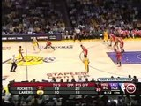 Kobe makes sick self-alleeoop in Game 2 Lakers vs Rockets NBA Playoffs 2009