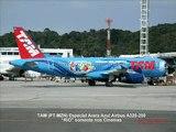 """Aviação do Brasil: TAM (PT-MZN) A320-200 com o filme """"RIO"""" Somente nos Cinemas em SSA/BA (2)"""