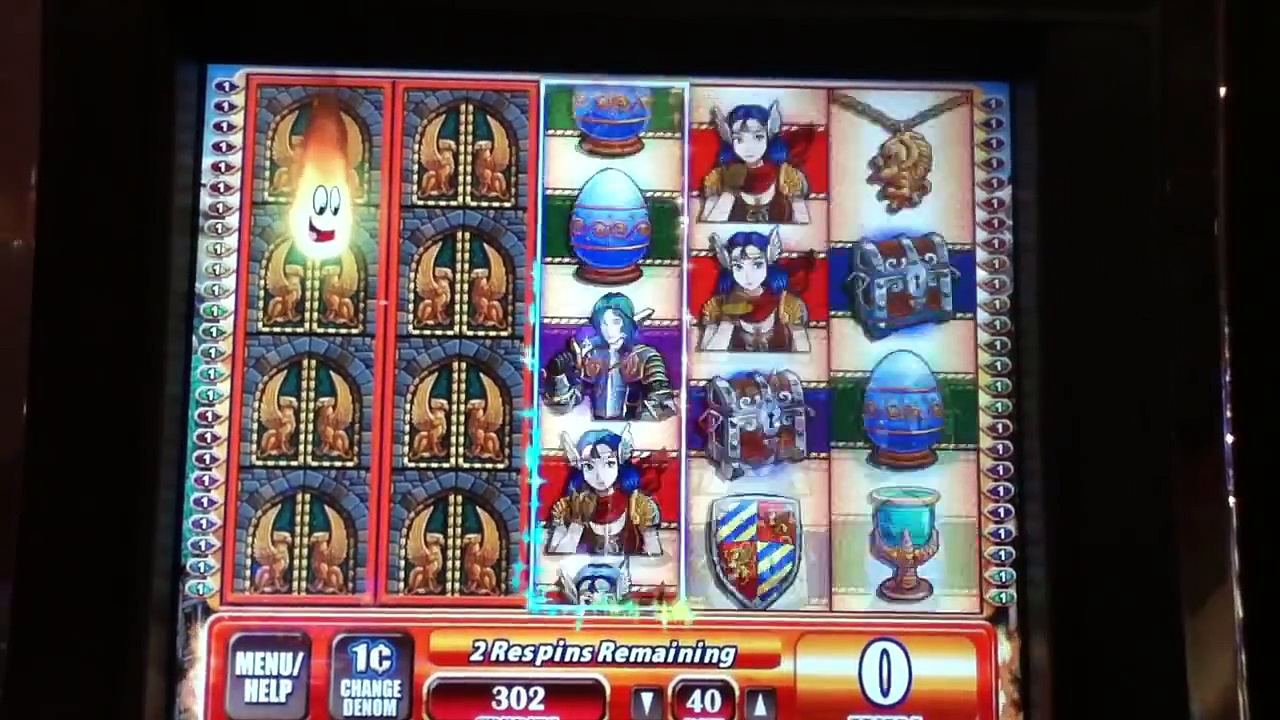 GRIFFINS GATE Las Vegas Casino Penny Video Slot Machine with SUPER RESPINS and BIG WIN