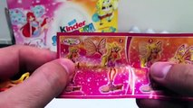 ★24 Spongebob & Winx Kinder Surprise Eggs unboxing chocolate Unwrapping Review toys