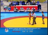 WORLD JUNIOR WRESTLING CHAMPIONSHIPS 2012_KOR VS ARM