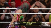 Asuka celebrates winning the NXT Women's Title from Bayley- NXT TakeOver- Dallas on WWE Network