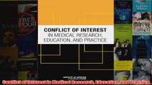 Free   Conflict of Interest in Medical Research Education and Practice Read Download