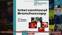 FREE DOWNLOAD   Interventional Bronchoscopy Progress in Respiratory Research Vol 30  PDF FULL