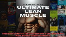 Download  Ultimate Lean Muscle The Essential Guide to Lean Muscle Diet Plans Burn Fat  Build Lean Full EBook Free