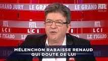 Mélenchon rabaisse Renaud qui doute de lui